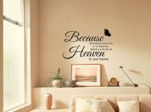 """A Little Bit Of Heaven In Our Home..."" Wall Quote, Sticker, Decal, Transfer."